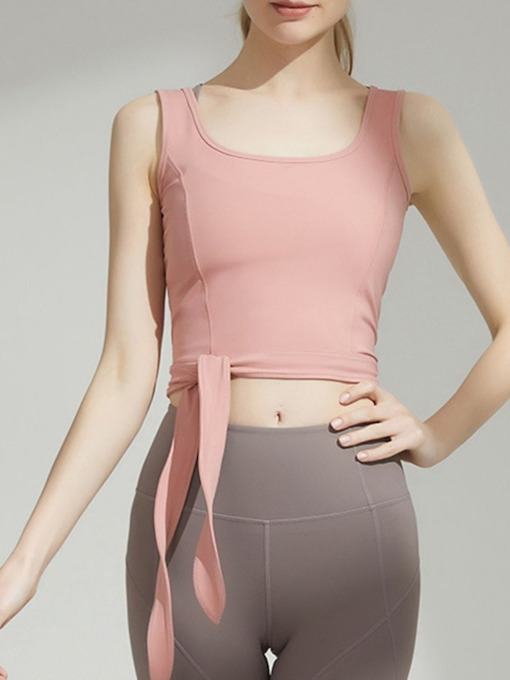 Anti-Sweat Solid Patchwork Yoga Sleeveless Pullover Tops