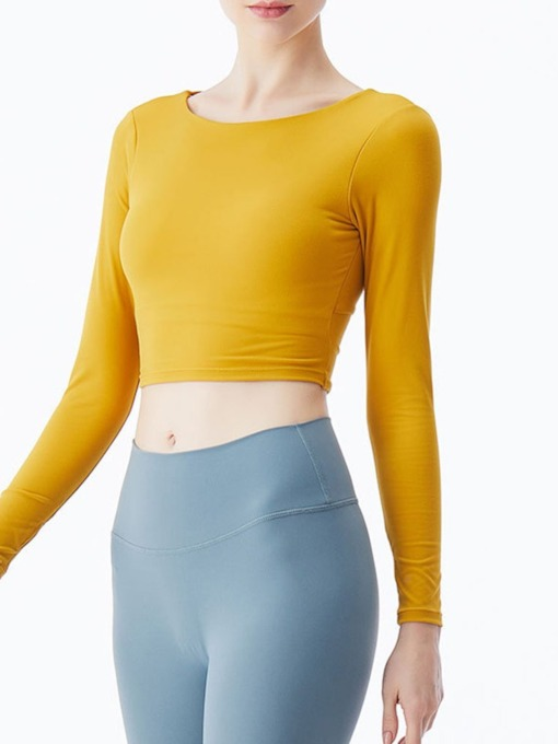 Solid Breathable Patchwork Pullover Female Long Sleeve Tops