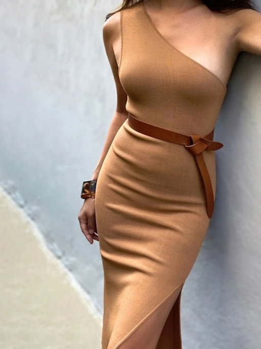 Fashion Split Mid-Calf Sleeveless Pullover Women's Dress