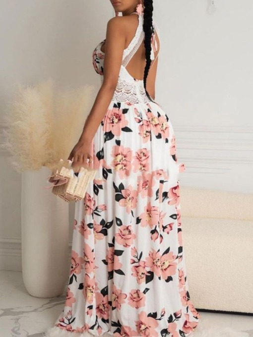 Sleeveless Backless Floor-Length Summer Women's Dress