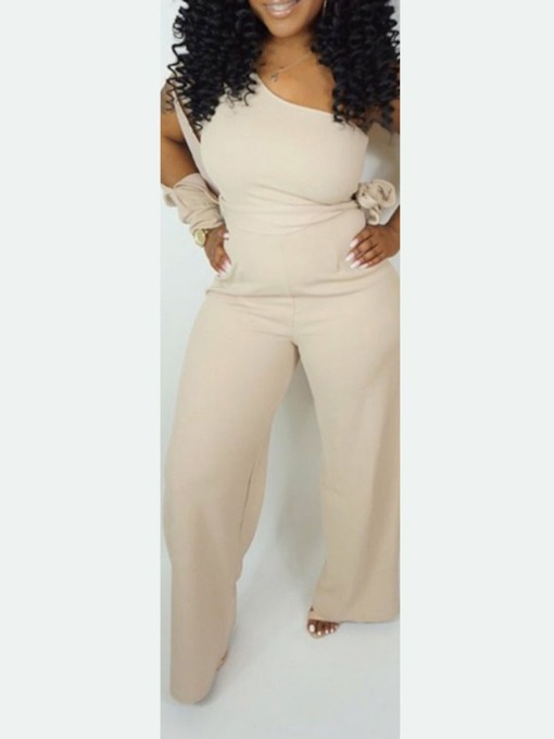 Plain Full Length Western Straight Women's Jumpsuit