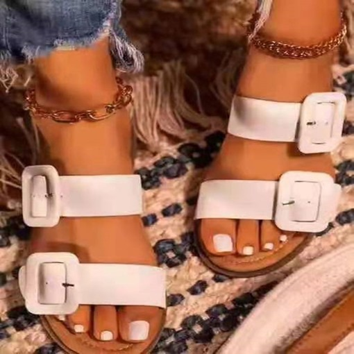 Flip Flop Slip-On Flat With Thread Western Slippers