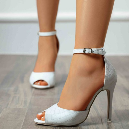 Stiletto Heel Buckle Buckle Peep Toe High Heel (5-8cm) Thin Shoes