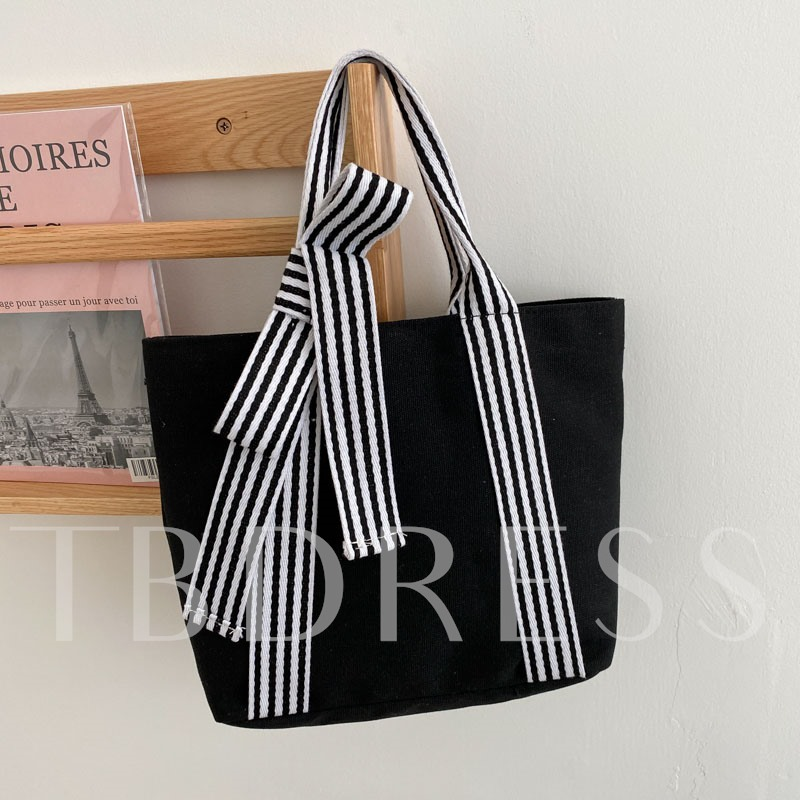 Canvas Stripe Sweet Tote Bags