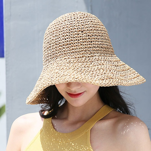 Straw Plaited Article Japanese Bucket Hat Fall Hats