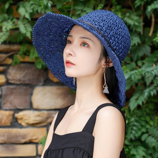 Straw Plaited Article Bucket Hat Bowknot Fall Hats