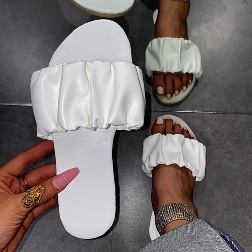 Slip-On Flat With Flip Flop Plain Slippers