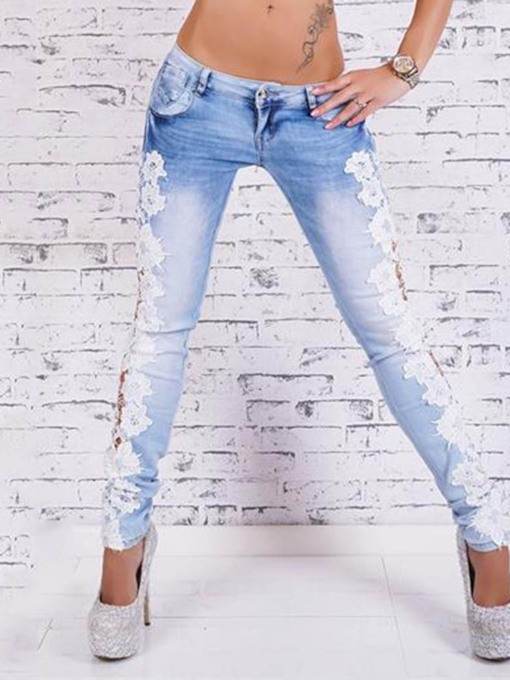 Pencil Pants Zipper Slim Women's Jeans