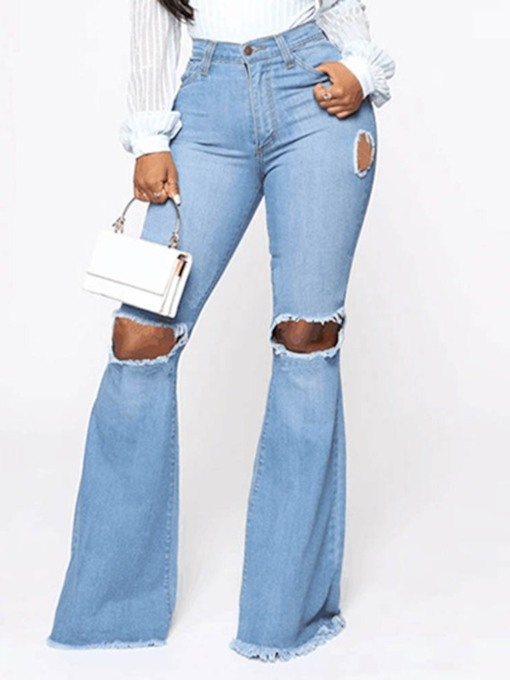 Bellbottoms Zipper Slim Casual Women's Jeans