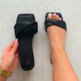 Toe Ring Slip-On Flat With TPR Slippers