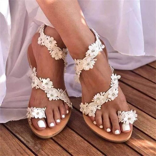 Slip-On Thong Flat With Plain Sandals