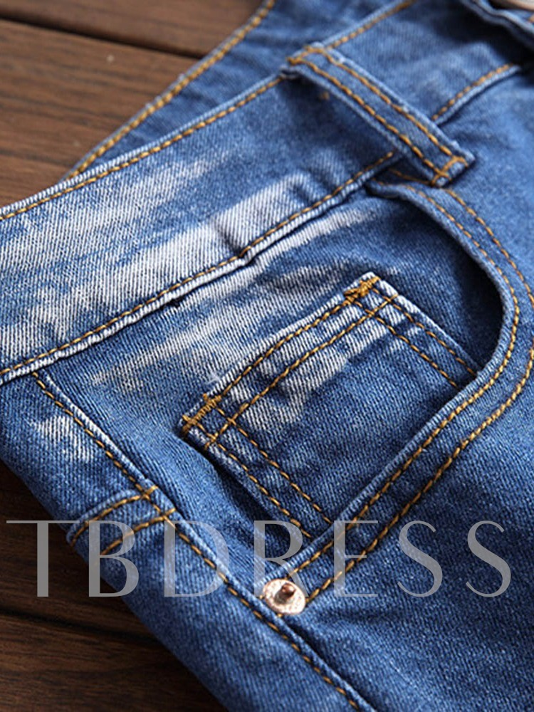 Straight Pocket Casual Men's Jeans