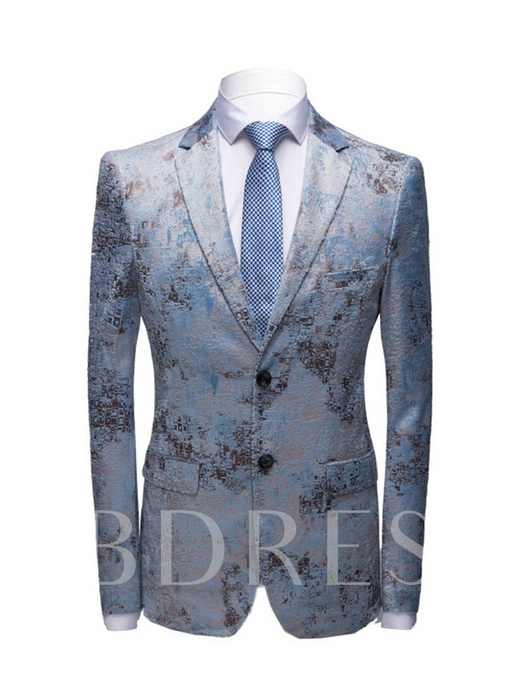 Button Single-Breasted Pants Formal Men's Dress Suit