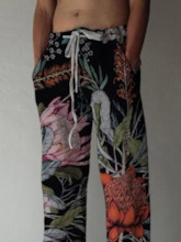 Print Straight Floral Summer Men's Casual Pants