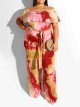 Plus Size Office Lady Backless Full Length Straight Women's Jumpsuit