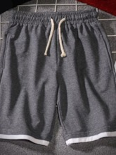 Lace-Up Shorts Straight Casual Summer Men's Casual Pants