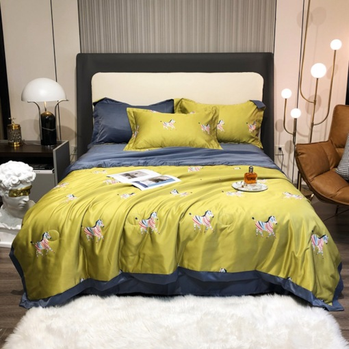 Reactive Printing Four-Piece Set Dry Cleaning Cotton Bedding Sets