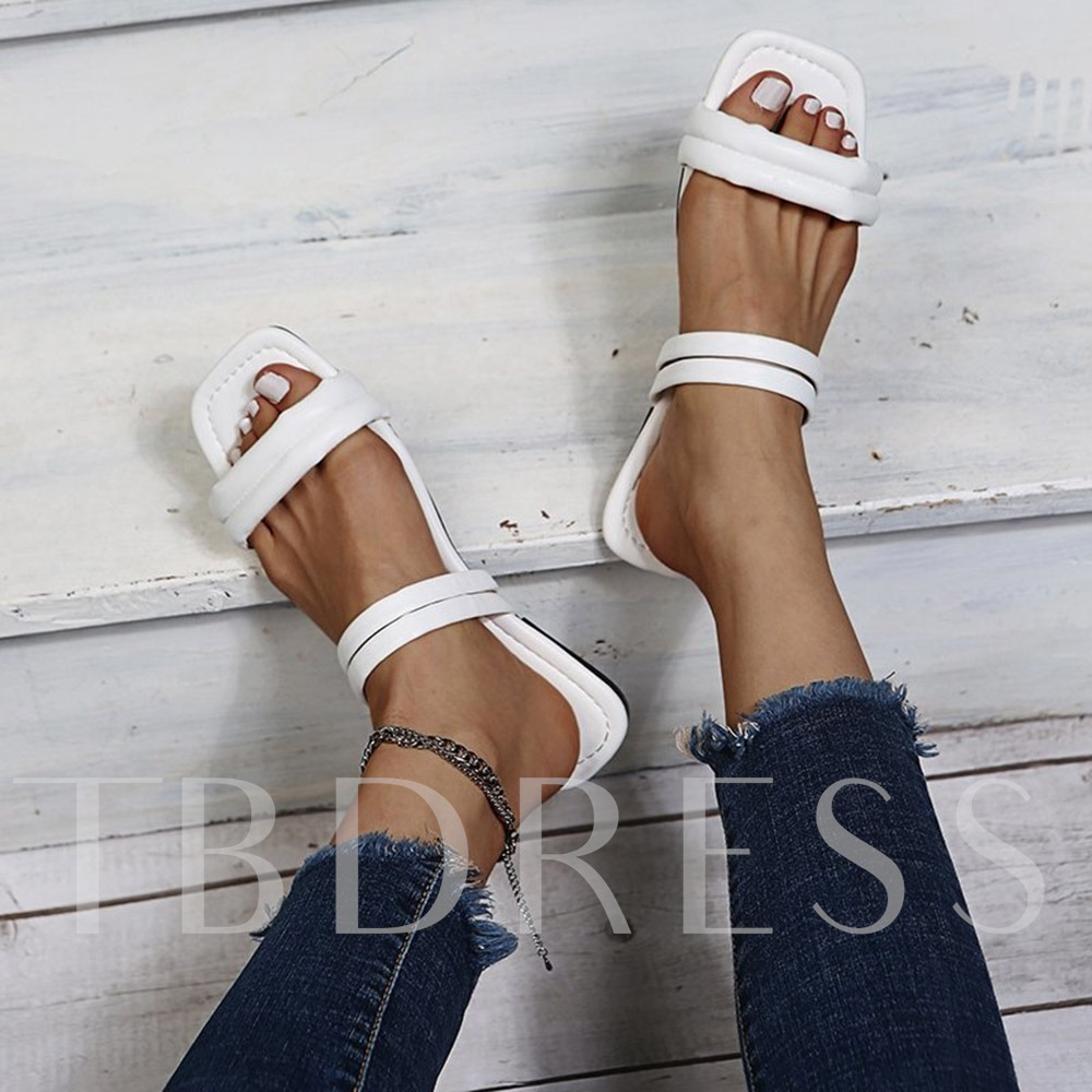 Flat With Open Toe Slip-On Summer Casual Sandals