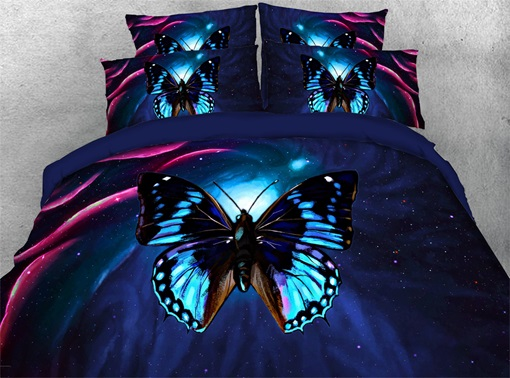Reactive Printing Hand Wash Four-Piece Set Polyester Bedding Sets