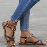 Buckle Flat With Open Toe Professional Sandals