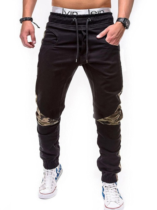 Pencil Pants Lace-Up Camouflage Casual Men's Casual Pants
