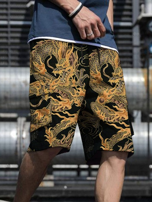 Straight Print Floral Shorts Spring Men's Casual Pants