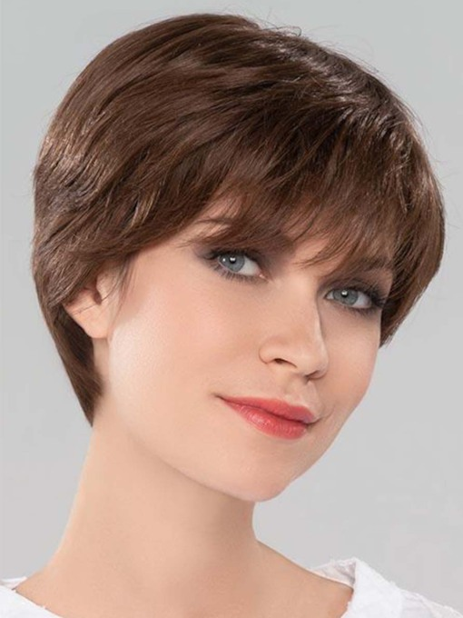 Lovely Women's Short Bob Hairstyles Straight Human Hair Capless 8 Inches 120% Wigs