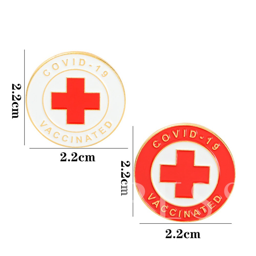 Vaccinated Alloy European Round Brooch Pins Brooches