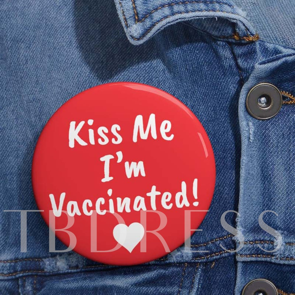 Vaccinated Round Alloy European Brooch Pins Brooches