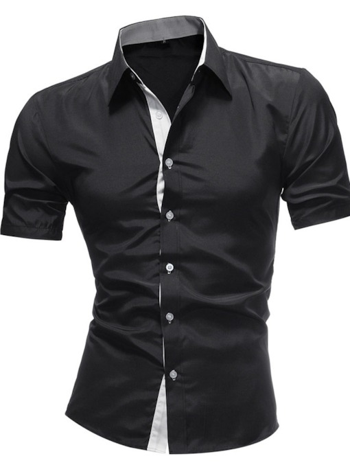 Casual Lapel Button Single-Breasted Slim Men's Shirt