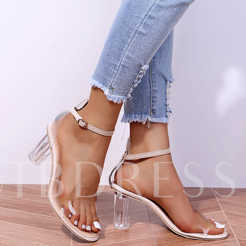Round Toe Buckle Casual Sandals