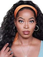 Headbang Wig Kinky Curly Synthetic Hair Wigs for Black 22 Inches 130% Wigs