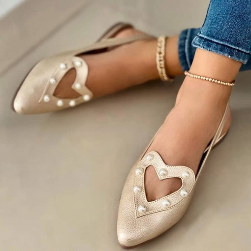 Pointed Toe Slip-On Flat With Plain Sandals