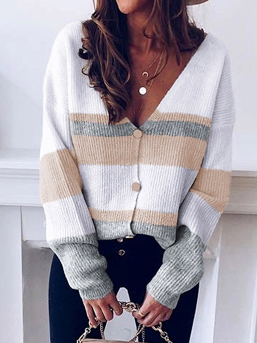 Button Single-Breasted Regular Mid-Length Women's Sweater