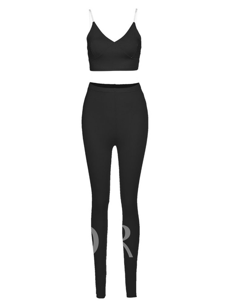 Solid Pullover Sleeveless Full Length Clothing Sets