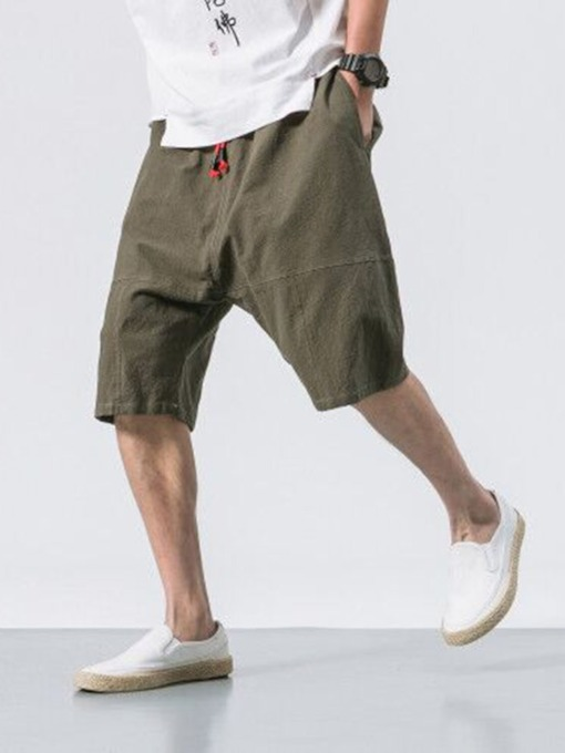 Lace-Up Thin Micro-Elastic Summer Men's Casual Pants