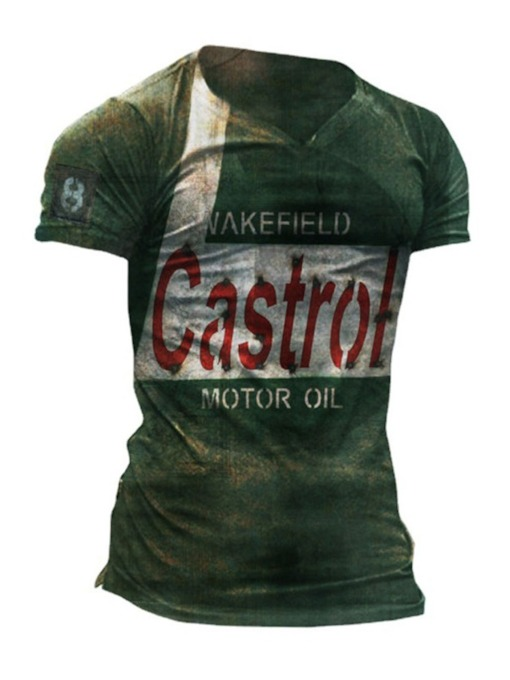 Print Casual Letter Pullover Men's T-shirt