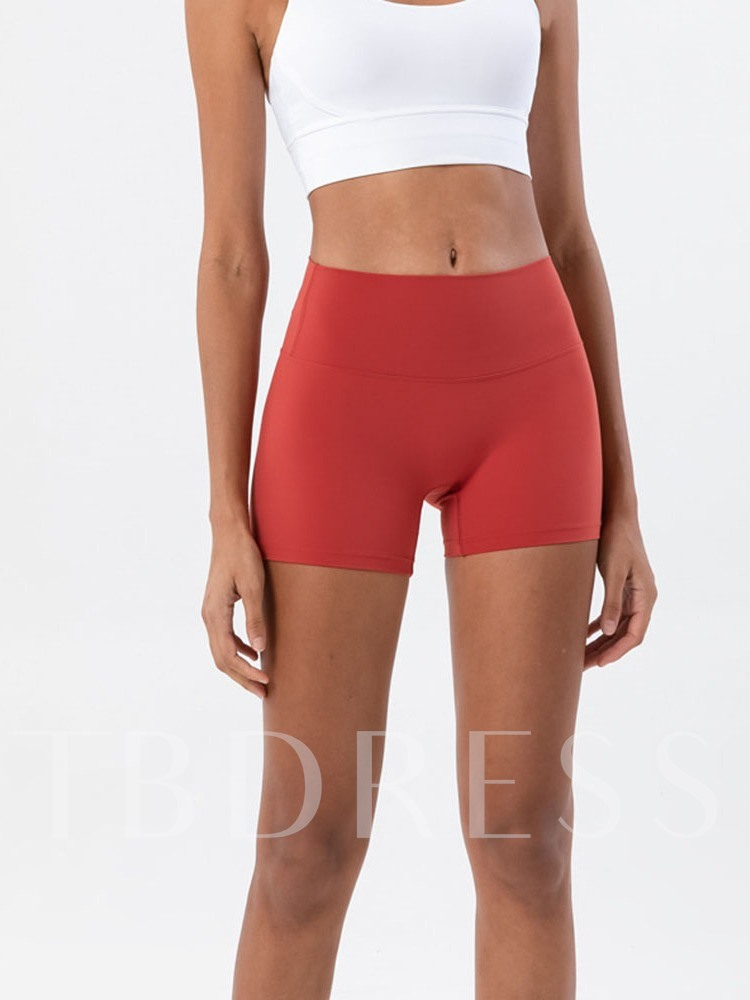 Solid Female Running Shorts Pants