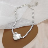 Chain Necklace European Heart-Shaped Female Necklaces