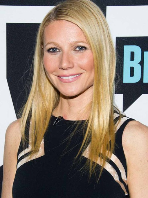 Gwyneth Paltrow's Stick Straight Strands Medium Natural Straight Human Hair Capless 20 Inches 130% Wigs