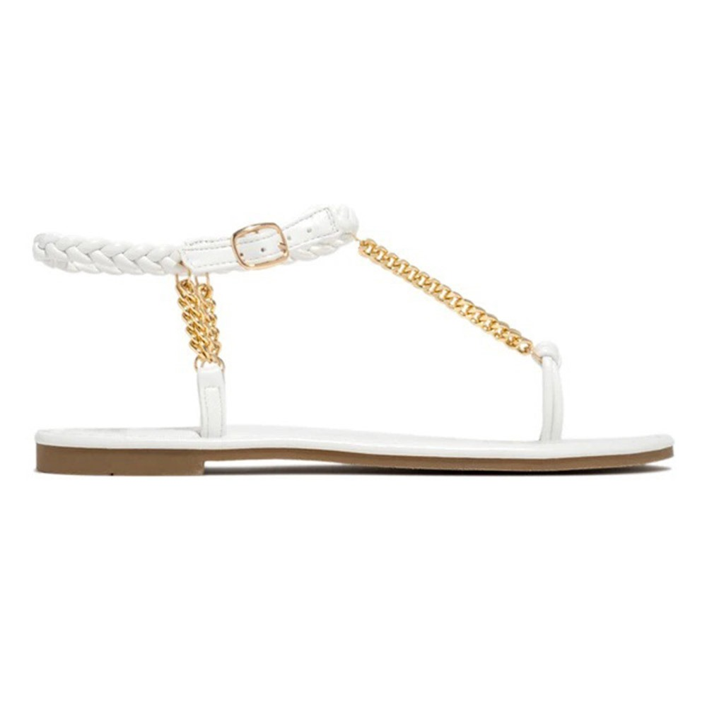 Thong Flat With Buckle Beach Sandals
