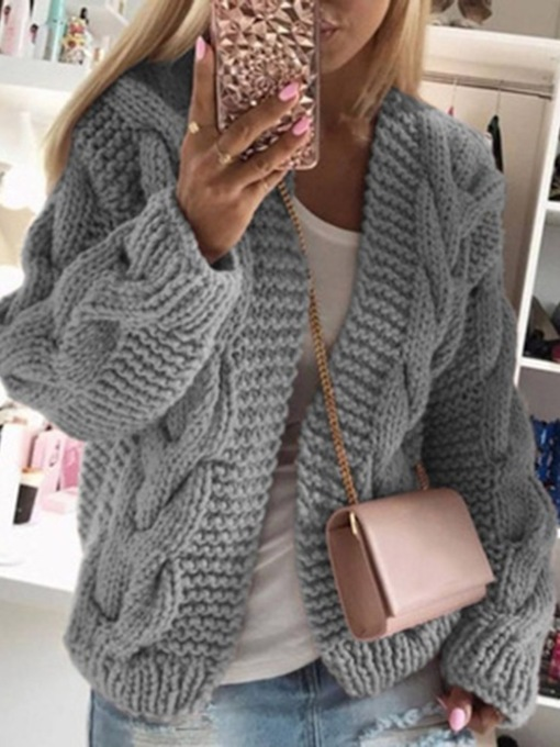 Thread Wrapped Hooded Women's Sweater