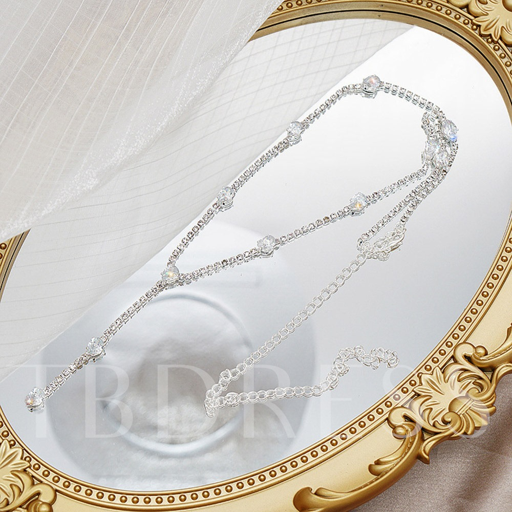 E-Plating Water Drop Chain Necklace Female Necklaces