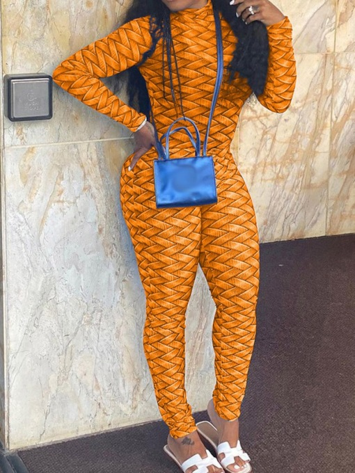 Color Block Sexy Full Length Skinny Women's Jumpsuit