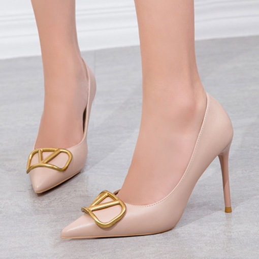 Slip-On Sequin Stiletto Heel Pointed Toe Ultra-High Heel(≥8cm) Thin Shoes