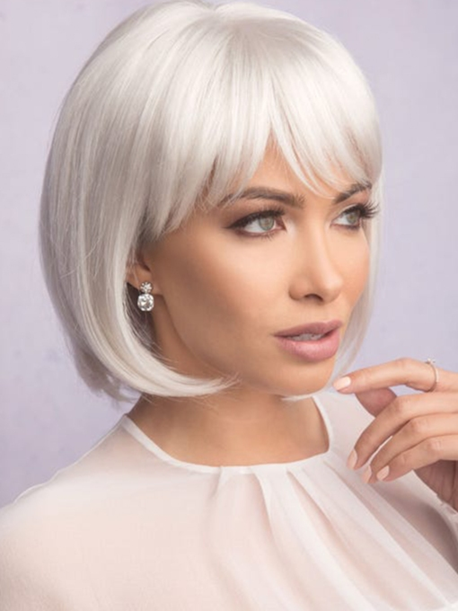 Sexy Women's Short Bob Hairstyles Natural Straight Blonde Synthetic Hair Capless 10 Inches Wigs