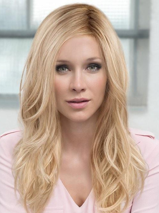 Women's Long Layered Hairstyles Wavy Synthetic Hair Capless 22 Inches Wigs
