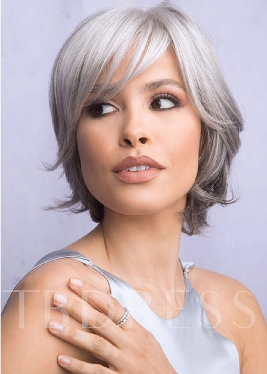 Elegant Women's Short Layered Classy Straight Synthetic Hair Capless 12 Inches Wigs