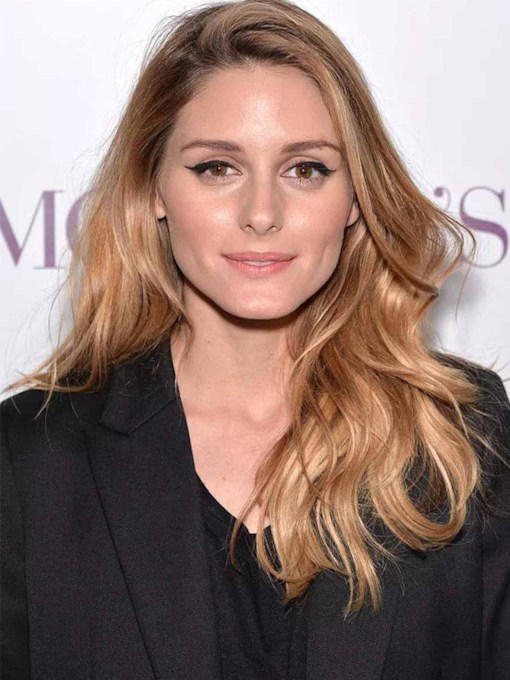 Olivia Palermo's Thicker Face-framing Layers Women's Body Wavy Human Hair Capless 26 Inches Wigs