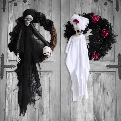 Halloween Wall Mounted Artificial Dried Flowers